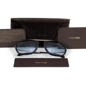 Tom Ford Shiny Black w/Blue Gradient Lens